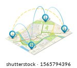 isometric city map business... | Shutterstock . vector #1565794396