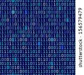 blue binary computer code... | Shutterstock .eps vector #156579479