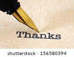 Fountain Pen On Thank You Text