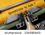 questions to ask | Shutterstock . vector #156580643