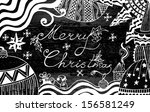 christmas card can be used for... | Shutterstock .eps vector #156581249