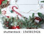 beautiful christmas composition ... | Shutterstock . vector #1565815426