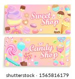 set of candy shop welcome... | Shutterstock .eps vector #1565816179