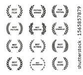 film awards. set of black and... | Shutterstock .eps vector #1565857879
