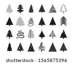 christmas tree icon set. vector ...   Shutterstock .eps vector #1565875396