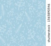 seamless floral doodle pattern... | Shutterstock .eps vector #1565890546