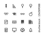 education icons | Shutterstock .eps vector #156589088