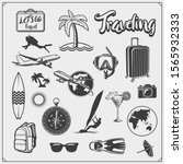 set of travel emblems  labels... | Shutterstock .eps vector #1565932333