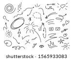 Hand Drawn Set Elements  Black...