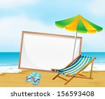 illustration of a beach with an ... | Shutterstock . vector #156593408