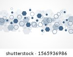 abstract medical background and ... | Shutterstock .eps vector #1565936986