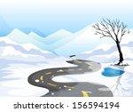 illustration of a long road at... | Shutterstock . vector #156594194