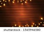 christmas lights. xmas glowing... | Shutterstock .eps vector #1565946580