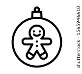 christmas ball with gingerbread ...