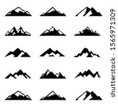 mountain outlined icons set.... | Shutterstock .eps vector #1565971309