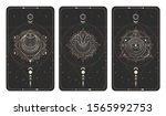 vector set of three dark... | Shutterstock .eps vector #1565992753
