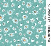 Seamless Pattern With The Daisy ...