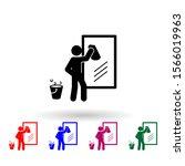 man wiping mirror nolan icon....