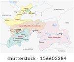 tajikistan administrative map | Shutterstock .eps vector #156602384