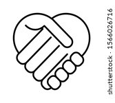 handshake  heart symbol icon... | Shutterstock .eps vector #1566026716
