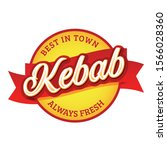kebab vintage sign label... | Shutterstock .eps vector #1566028360