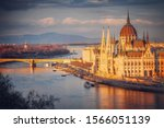 Sunset Over The Danube And The...