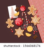 christmas or new year... | Shutterstock .eps vector #1566068176
