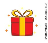 red gift box vector... | Shutterstock .eps vector #1566083410