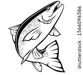 line art fish outline for... | Shutterstock .eps vector #1566096586