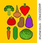 vegetables set. cartoon...