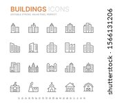 collection of buildings related ... | Shutterstock .eps vector #1566131206