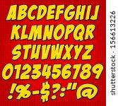 comics style alphabet... | Shutterstock .eps vector #156613226