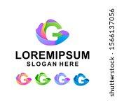 colorful letter g logo design... | Shutterstock . vector #1566137056