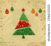 vintage christmas card with a... | Shutterstock . vector #156615323