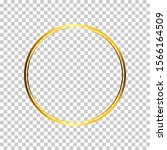 circle frame with gold effect | Shutterstock .eps vector #1566164509