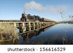 Vintage Steam Train On A Bridge ...