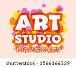 vector colorful logo art studio.... | Shutterstock .eps vector #1566166339