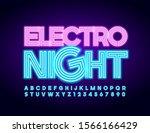 vector neon emblem electro... | Shutterstock .eps vector #1566166429