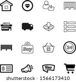 shopping vector icon set such...