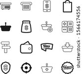 shopping vector icon set such... | Shutterstock .eps vector #1566174556