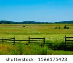 Scenic View Of Fields With A...
