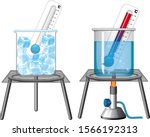 science experiment with... | Shutterstock .eps vector #1566192313