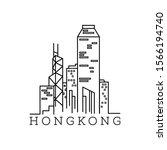 line art vector illustration of ... | Shutterstock .eps vector #1566194740