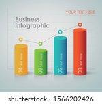 business infographic   bar chart   Shutterstock .eps vector #1566202426