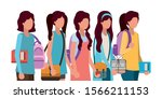 school girls students design ...   Shutterstock .eps vector #1566211153