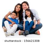 beautiful family portrait...   Shutterstock . vector #156621308