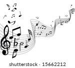 musical notes background with... | Shutterstock .eps vector #15662212