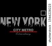 new york city slogan typography ... | Shutterstock .eps vector #1566228223