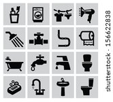 bath,bathroom,black,cleanliness,design,faucet,graphics,hair dryer,home,hygiene,hygienic,icon,illustration,paper,pictogram