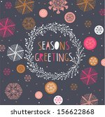seasons greetings print design | Shutterstock .eps vector #156622868
